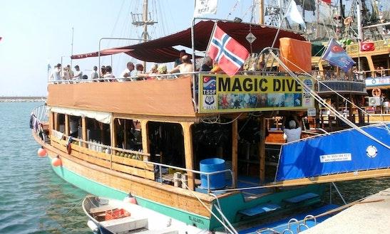 Guided Scuba Dive Trips By Boat In Turkey