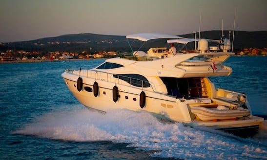 Ferretti 590 Power Mega Yacht Charter In Sukošan