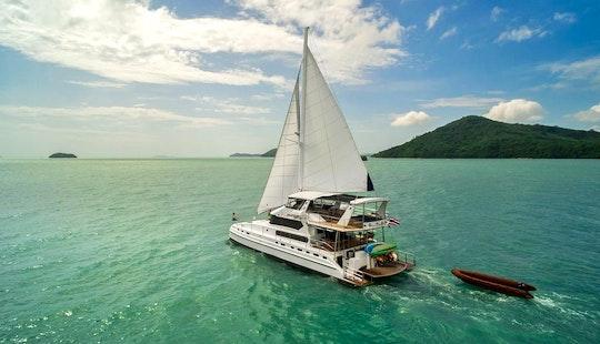 Enjoy 70' Luxury Sailing Catamaran Yacht Charter In Phuket