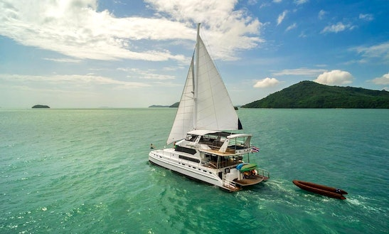 Enjoy 70' Luxury Sailing Catamaran Yacht Charter In Phuket