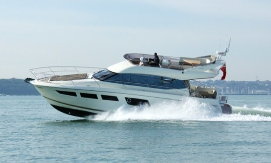 The Prestige 500 Motor Yacht In Hamble-le-rice