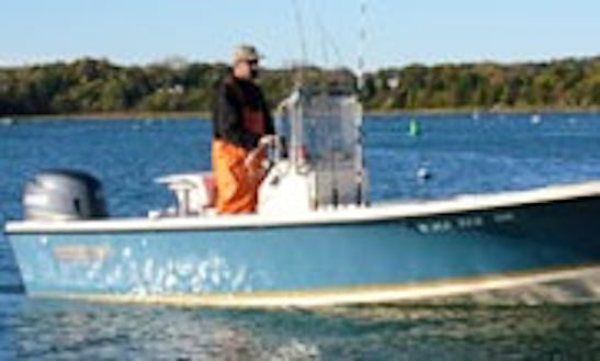 19' Center Console Fishing Charters In Weymouth, Massachusetts
