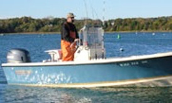 19' Center Console Fishing Charters In Weymouth, Massachusetts