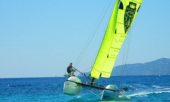 Windsurfing In Le Lavandou, France