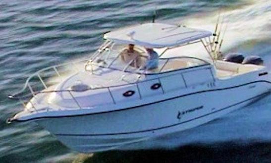 30′ Striper Boat Fishing Charters In Haldimand, Ontario