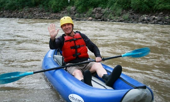 Solo Inflatable Kayak For Whitewater Adventure In Glenwood Springs, Colorado