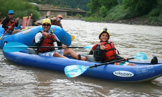Tandem Kayak Rental & Trips In Glenwood Springs, Colorado