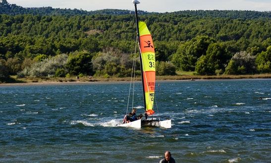 Beach Catamaran Lesson In Gruissan