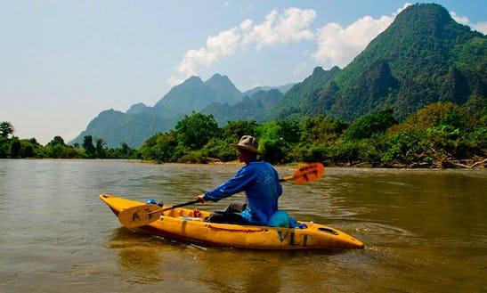 Single Kayak Tour In Vang Vieng