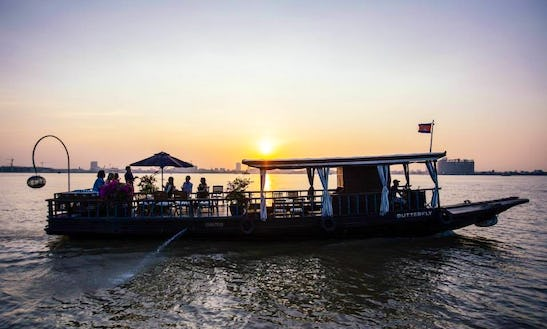 River Cruises On The Mekong River Aboard A 25 Person Traditional Boat