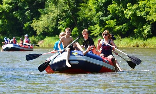 White Water Rafting Trips In The Nysa Kłodzka River