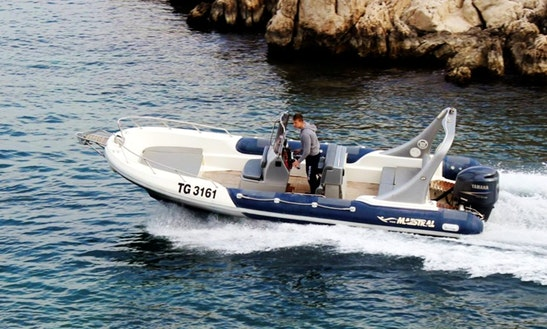 Rent The 12 People Maestral 745 Rigid Inflatable Boat With Skipper Mario In Trogir, Croatia