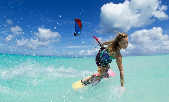 Kiteboarding In Currimundi, Australia