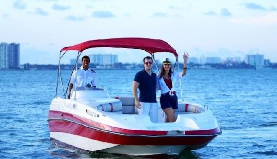 Hire A 25' Deck Boat Cobia In Miami Beach, Florida