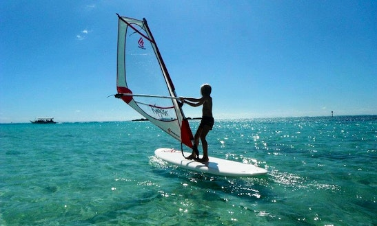 Windsurfing In Haapiti, French Polynesia