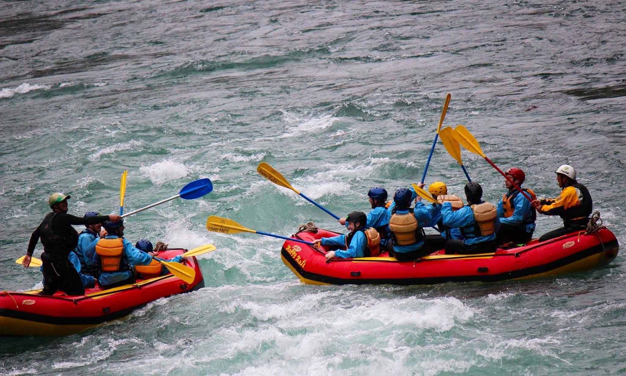 Rafting in Ōtoyo-chō