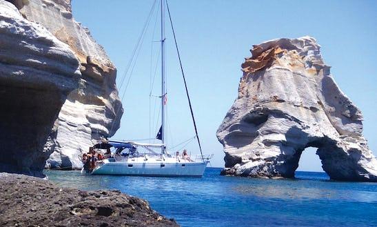 40' Beneteau Sailboat In Milos