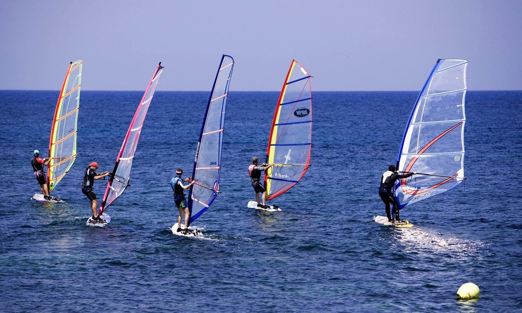 Windsurfing in Santorini