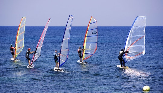 Windsurfing In Santorini