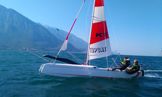 Beach Catamaran Rental In Limone Sul Garda, Italy