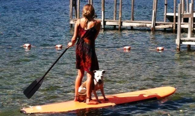Stand Up Paddleboard Ready to Explore Lake George in Dresden, New York
