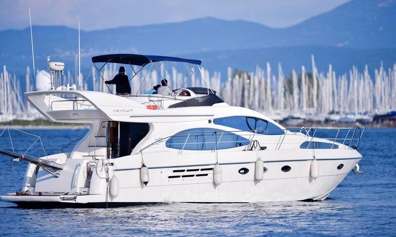 """Captained Charter on 46ft Azimut """"Rio Frio"""" Motor Yacht in Preveza, Greece"""