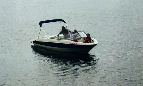Bayliner 185 Bowrider For Rent In Antioch, Il On The Chain O' Lakes. Watersport Equipment Included.  Captain Tours Of The Chain O' Lakes.