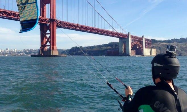 Kiteboarding in San Francisco, California
