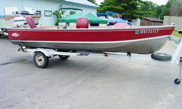 16' Deck Boat Rental in Crooked Lake Township, Minnesota
