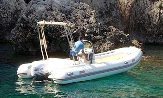 19' Gommone Rib Rental & Trips In Capri, Italy