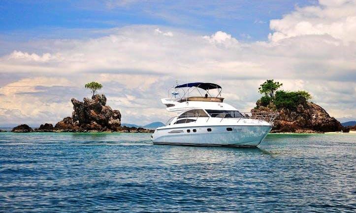 """Phetmanee"" Princess 42 Motor Yacht Charter in Tambon Mai Khao"