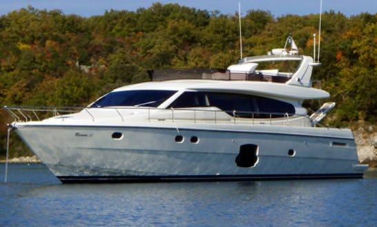 Ferretti 630 Power Mega Yacht Charter In Jezera