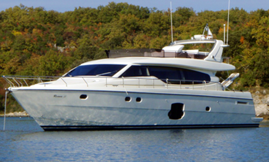 Ferretti 630 Power Mega Yacht Charter In Jezera