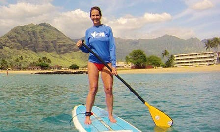 Enjoy the waters of Honolulu, Hawaii on this SUP