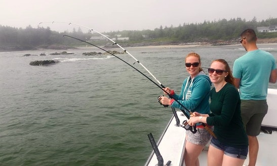 25 39 steiger craft fishing charter in south portland for Portland maine fishing charters
