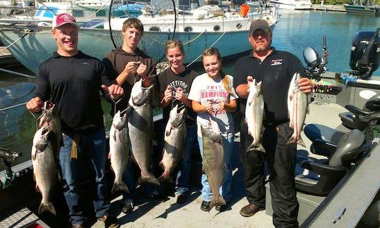Bass Boat Fishing Charters In Underwood, Washington