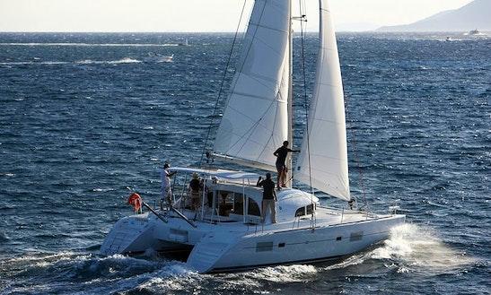 Lagoon 380 Cruising Catamaran Charter In Paros