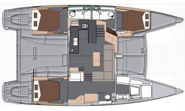 """Clione"" Helia 44' Cruising Catamaran Charter in Podgorica"