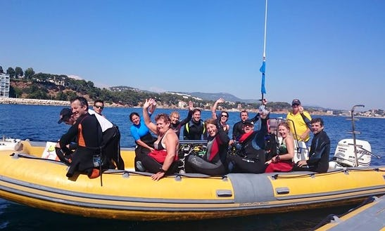 24' Rib Diving Trips In Bandol, France