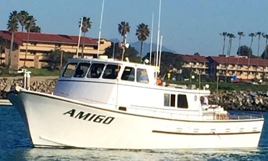 Gudied fishing trip on bass boat on lake casitas in ojai for Santa barbara fishing charters