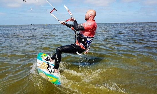 Kiteboarding In Workum, Netherlands