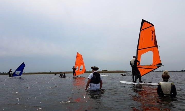 Windsurfing in Workum, Netherlands