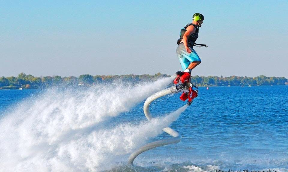 Flyboarding in Chambly, Canada