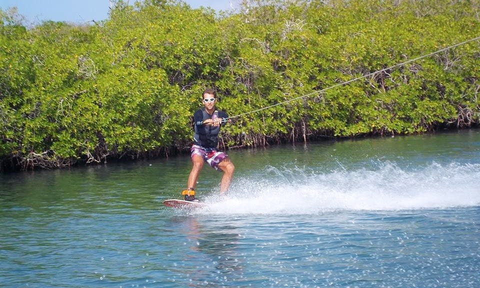 Wakeboarding in Willemstad, Curacao