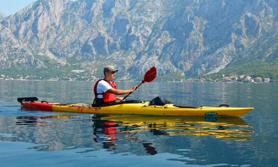 Single Kayak Tours And Rental In Kotor