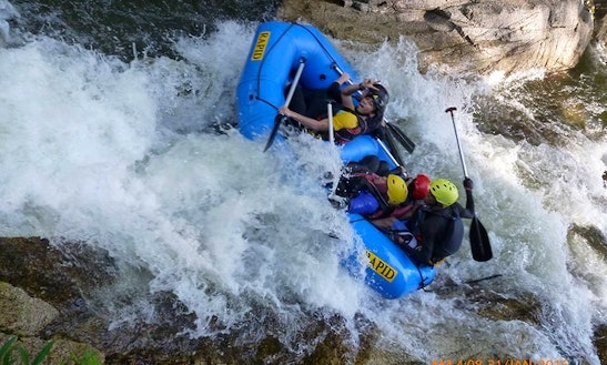 Whitewater Rafting On Sedim River, Malaysia