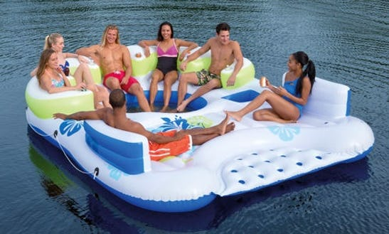 Rent Floating Tiki Island In Toledo, Ohio