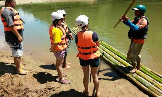 Bamboo Rafting In Kiulu, Tuaran, Malaysia