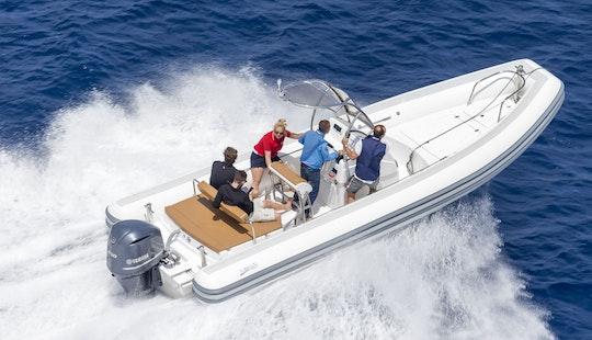 Sea Water Smeralda 250 Power Rib Boat Rental In Arzachena, Sardinia