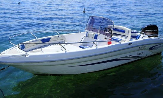 Ranieri Soverato Center Console Power Boat Rental In Bardolino, Italy